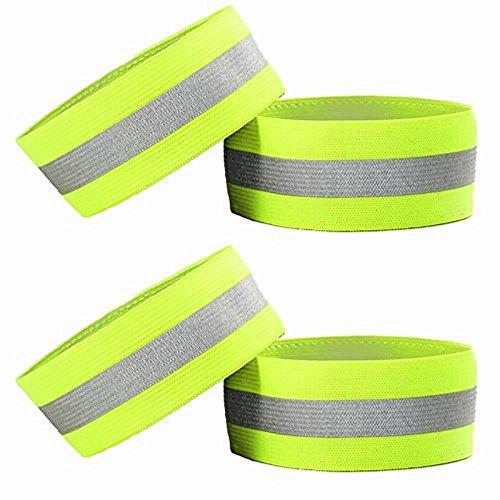 4hohe Sichtbarkeit Reflektierende Armbänder/Knöchel Bands/Armbinden,, Safety Gear für Running Bike, Hund, Walking, Joggen, Radfahren oder frühen Morgen und Nacht Aktivitäten