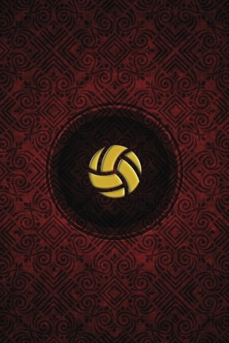 Monogram Volleyball Notebook: Blank Journal Diary Log: Volume 68 (Monogram Crimson 150 Lined)