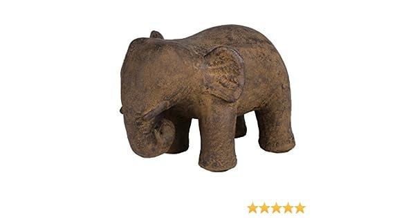T/ürpuffer Boden schwer Stein massiv ca Dekofigur f/ür Drinnen und drau/ßen Amaris Elements 14 kg 20x30xH22 cm Gartendekoration au/ßen grau braun T/ürstopper Elise Tierfigur Stein Elefant