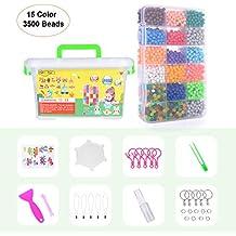 5383f19c3b68 Aquabeads  Abalorios Cuentas de Agua 3600 Perlas 24 Colors  Hama Beads  para  Niños Niños DIY Artesanía ...