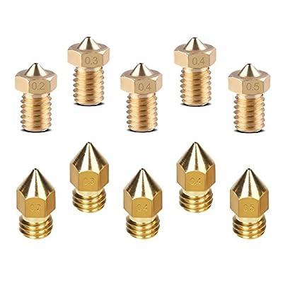 TopDirect 16pcs E3D V6 Alle Metall/Teflon Extruder J-head Bowden Hotend Kit mit Lüfter + 10pcs Messing Extruder Düse + 5pcs Edelstahl Düse Tube für 1.75mm Filament 3D Drucker