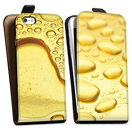 Apple iPhone X Silikon Hülle Case Schutzhülle Gold Look Tropfen Downflip Tasche schwarz