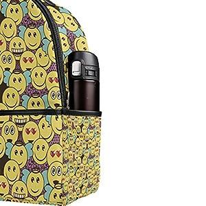51ozAnhn8xL. SS300  - Ahomy Mochila Emoticon Emoji Smiley Mochila de Viaje Camping Escuela Bolsas para niñas niños Mujeres