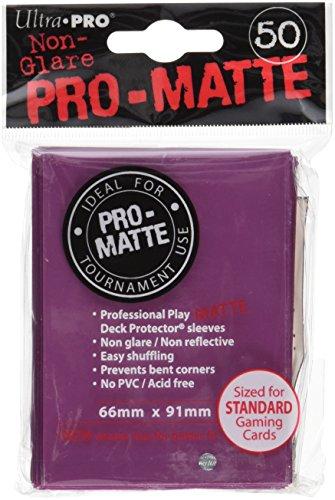 Preisvergleich Produktbild Ultra Pro 84505 - Deck-Schutz Standard Sleeves, Pro-Matte - Non Glare, blackberry