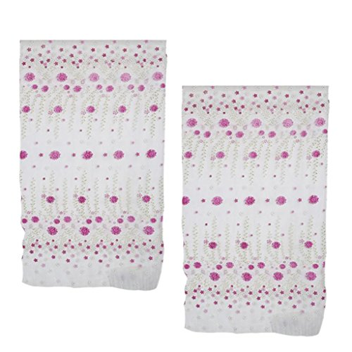 150x250cm rosa fiori forma tenda di filato di vetro di stampa offset per finestra porta casa ristorante hotel