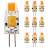 G4 COB 0705 LED Lampe 1.2W Warmweiß 3000 Kelvin Ersetzt 10W Halogenlampe 120 Lumen 360° Abstrahlwinkel (10er Pack)