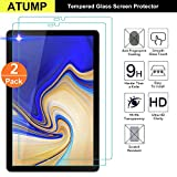 Atump [2 Pack] Galaxy Tab A 10.5 2018 Screen Protector, Premium Clear Tempered-Glass Flim Glass Guard Tablet Screen Protector for Samsung Galaxy Tab A 10.5