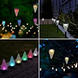 Quace Color Changing Garden Lights 7 Colors And 3 Lighting Modes Solar Outdoor Decoration Lights Hang/Stick - Set Of 10