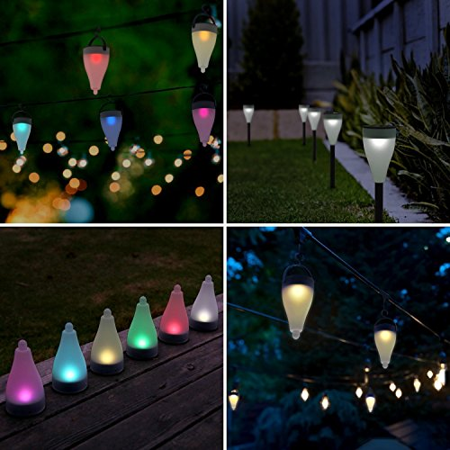 Quace 7 Colors Changing and 3 Lighting Modes Solar Outdoor Decoration Lights...