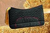 COPRISELLA westernpad/Occidentale del Cristiano della Western sattelpad in vera pelle di agnello (20mm in altezza), tasche (senza imbottitura), in nero e marrone, taglia: 70X 75, 75X 75, 80x 80cm, nero