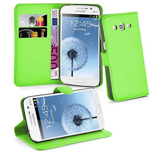 Cadorabo Hülle für Samsung Galaxy Grand 2 - Hülle in MINZ GRÜN - Handyhülle mit Kartenfach und Standfunktion - Case Cover Schutzhülle Etui Tasche Book Klapp Style