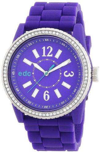 edc by Esprit A.EE101032003 - Reloj analógico de cuarzo para mujer con correa de plástico, color morado