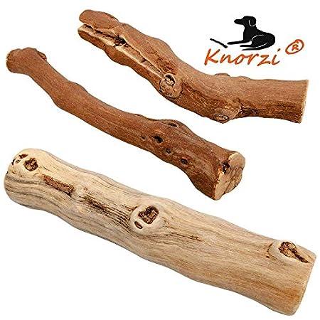 Knorzi® – Bio Kauholz für den Hund – Größe M -Hundespielzeug – Kauknochen – Kauvergnügen – Beschäftigungsspielzeug – nachhaltiges, biologisches Produkt – EINWEG