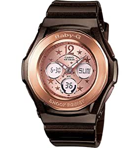 casio montre femme baby g ton rose dore bracelet noir montres. Black Bedroom Furniture Sets. Home Design Ideas