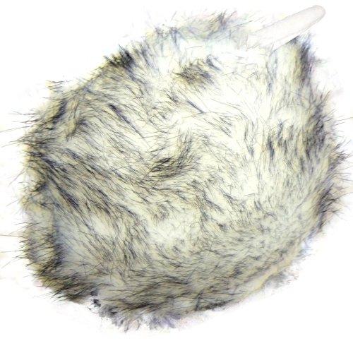BRUBAKER earmuffs tour de cou avec plaid fourrure ohrenwärmer en 5 couleurs Blanc - Weiß Melange