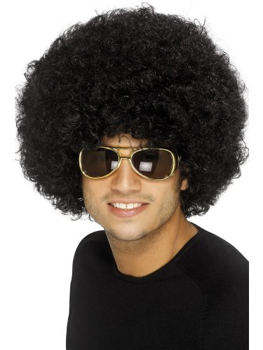 Funky Big Afro Wig - Black, One Size