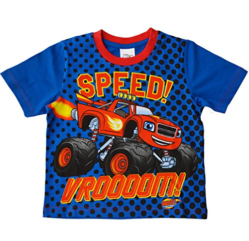 Boys - Blaze and the Monster Machines 100% Cotton Tshirt Summer Top[4-5 Years][Blue]