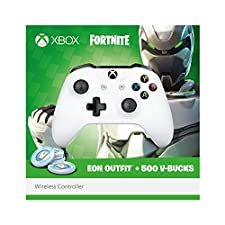 Xbox Wireless Controller - Fortnite Bundle (inkl. EON Outfit + 500 V-Bucks), Weiß, Limited Edition