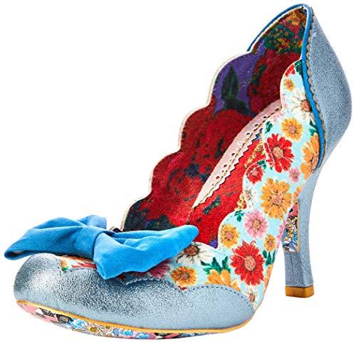 Irregular Choice Beach Trip, Zapatos de tacón con Punta Cerrada para Mujer, Azul Blue O, 38 EU