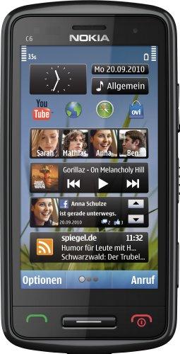 Nokia C6-01 Smartphone (Ohne Branding, 8,1 cm (3,2 Zoll) Display, Touchscreen, 8 Megapixel Kamera) schwarz