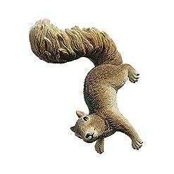 Design Toscano Simone lo scoiattolo Statua del giardino pensile del bosco, poliresina, a colori, 20 cm