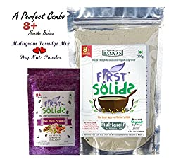 Multigrain Porridge Mix & Dry Nuts Powder - 100% Natural Homemade Baby Food (8 - 24 months)