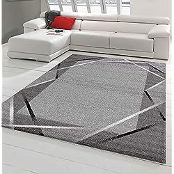 Koton Tapis de Salon Santana Gris, Noir et Blanc (160 x 220 cm)