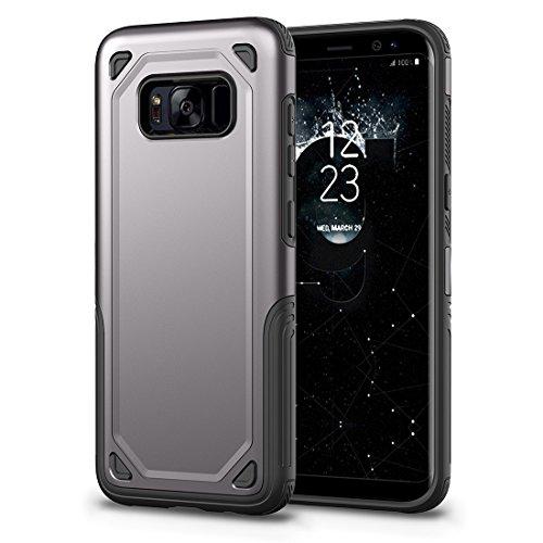HHF Cases & Covers Für Samsung Galaxy S8 Stoßfest Robuste Rüstung Schutzhülle (Color : Grey) -