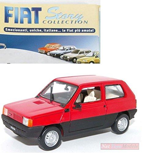 Preisvergleich Produktbild Fiat Panda 1980 Rossa DIE CAST 1:43 Norev MODELLINO +fas Fiat Story Collection