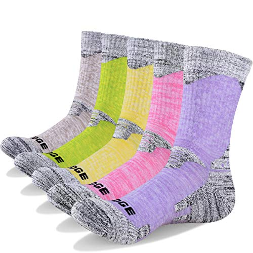 51ozKao59FL. SS500  - YUEDGE 5 Pairs Women's Cushion Crew Athletic Socks Outdoor Recreation Multi Performance Trekking Climbing Camping Hiking…