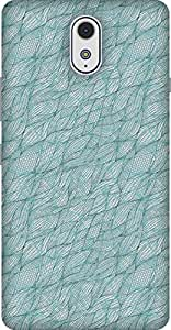The Racoon Lean printed designer hard back mobile phone case cover for Lenovo Vibe P1M. (Blue Fish)
