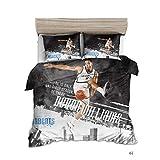 GAOXUE Bettwäsche-Set,3D gedruckte Bettwäsche, weiche und antiallergische Bettdecke mit Kissenbezug, geeignet für EIN Doppelbett @ Football 2_200 * 200 (3 Stück)