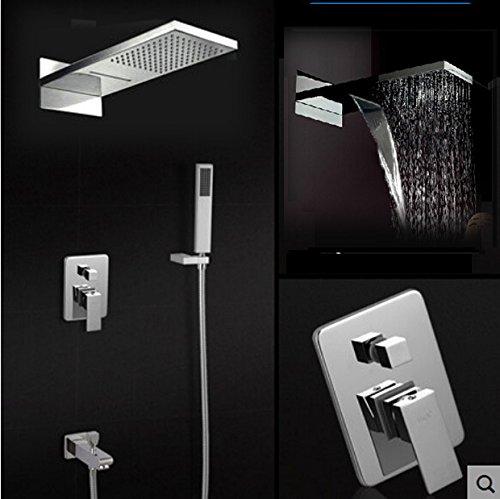 Classic Single Handle Tre funzioni bagno doccia rubinetto miscelatore con doccetta + Vasca beccuccio Clear