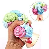 TianranRT Bunt Rose Stress Reliever Duftend Super Langsam Steigen Kinder Squeeze Spielzeug