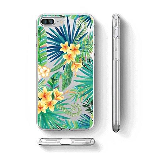 Cover Custodia Per iPhone 7 plus / 8 plus, WenJie Carino Gattino Trasparente Silicone Sottile Back Case Molle di TPU Trasparente per Apple iPhone 7 plus / 8 plus WM96