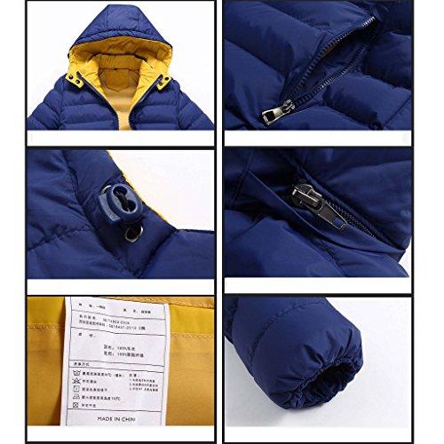 Highdas Warm Hooded Man Outdoor Dicken Jacke Baumwolle Warm Mantel Dunkel Blau
