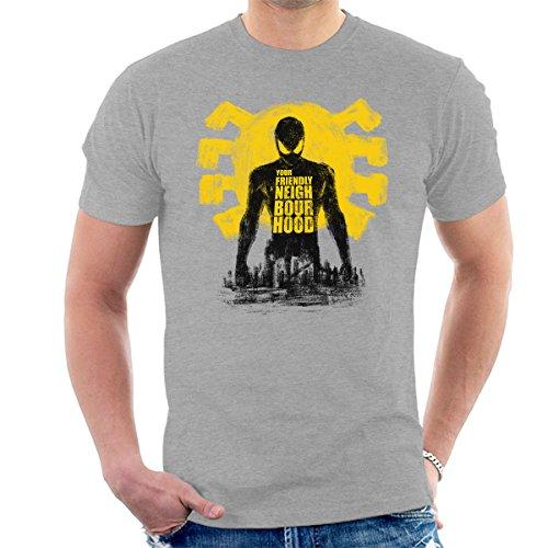 Spider Man Your Friendly Neighbourhood Men's T-Shirt Heather Grey