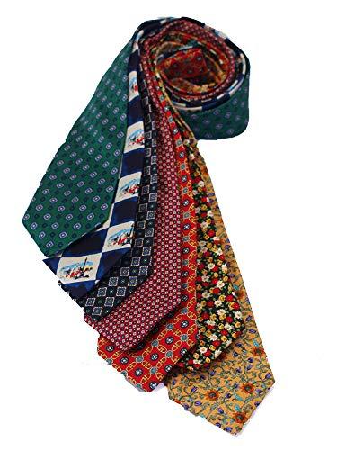 Lancashire Textiles 7-teilig 100% Reiner Seide Cavenagh London Ties Made in UK (118d) Pure Silk Floral Tie