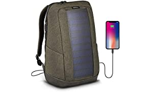 SunnyBAG ICONIC solar charging backpack with 7 Watt solar panel, charge smartphones, tablets, smartwatch + USB/dual-USB-Port