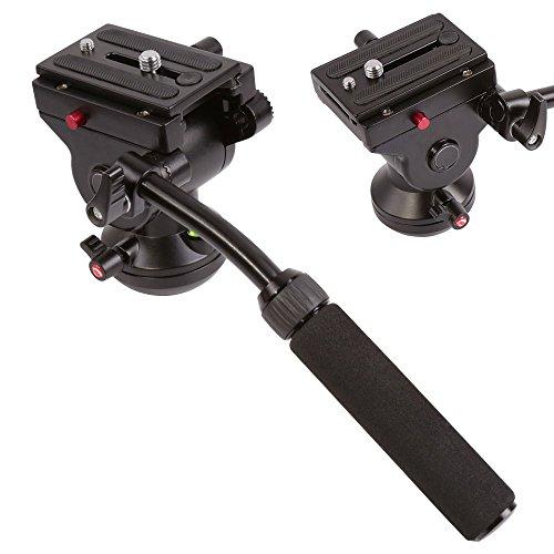 Orsda Video Neiger Stativköpfe Video Stativ Kugelkopf 3 Wege Fluid Head Kamerastativkopf von, schwenkbarer, hydraulischer Kopf für Panoramabilder geeignet für DSLR-Kameras von Canon, Nikon und Sony