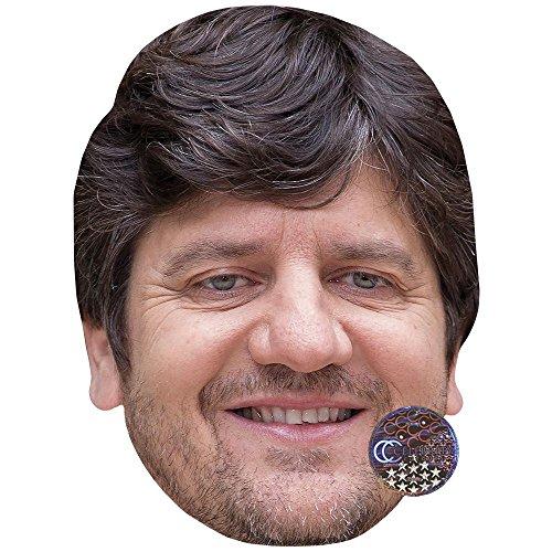 (Celebrity Cutouts Fabio De Luigi Maske aus Pappe)