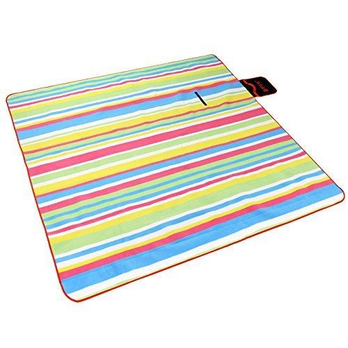 Outdoor épais coussin en daim élargi plage en plein air à double tapis de pique-nique tapis de pique-nique étanche (200cm * 200cm) ( couleur : #4 )