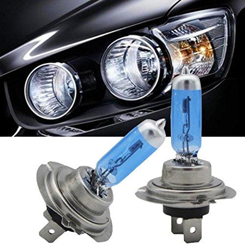 Preisvergleich Produktbild Minshao 2 stücke Helle H7 55 Watt 12 V 6000 Karat Xenon Gas Halogen Scheinwerfer Weißes Licht Lampen