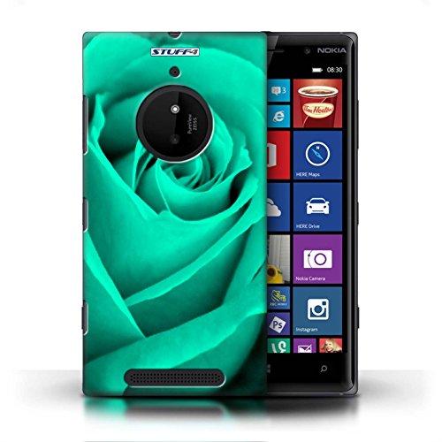 Kobalt® Imprimé Etui / Coque pour Nokia Lumia 830 / Jaune conception / Série Rose Turquoise