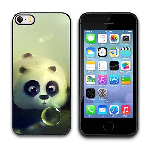 Iphone 5/5S Custodia Case - Cute Panda Print Pattern Designer Protective Cover Slim Fit Iphone 5/5S Phone Cover Custodia Case for Girls popo089