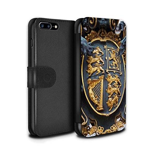 Stuff4 Coque/Etui/Housse Cuir PU Case/Cover pour Apple iPhone 7 Plus / Big Ben Design / Sites Londres Collection Royal Gate