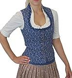 Berwin & Wolff Trachtenmieder Luisa mit Schalkragen und Schößchen jeansblau, Größen:44;Farben:blau