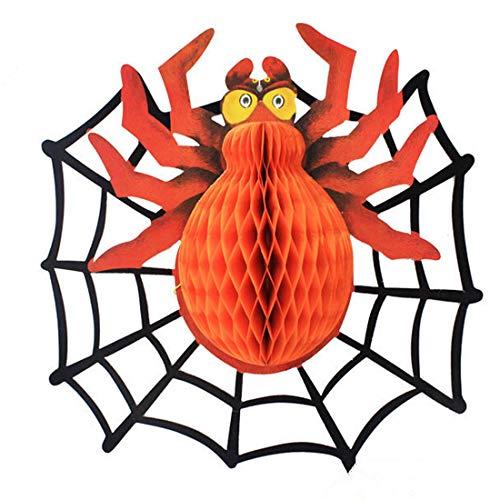 s - Halloween Hanging Props 1pc Kalong Spider Web Ghost Party Arrangement Home Diy Decoration - Decorations Party Party Decorations Dress Halloween Plastic Spider Pumpkin Dec ()