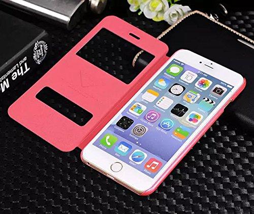 iPhone 6 / 6s Handyhülle Original Urcover® View Hülle Sulada Case Edition für das Apple iPhone 6 / 6s Schutzhülle Schale Etui Cover [DEUTSCHE MARKE] Dunkel Rot Rosa