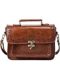 ECOSUSI Vintage Satchel for Girl Handbag Shoulder Bag